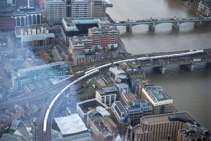 The View from The Shard, looking out towards Tower Bridge and Canary Wharf. London, December 2015