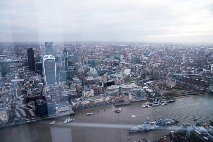 The View from The Shard. London, December 2015