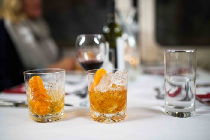 Woodford reserve Old Fashioned cocktails at Basement Galley Supperclub in London
