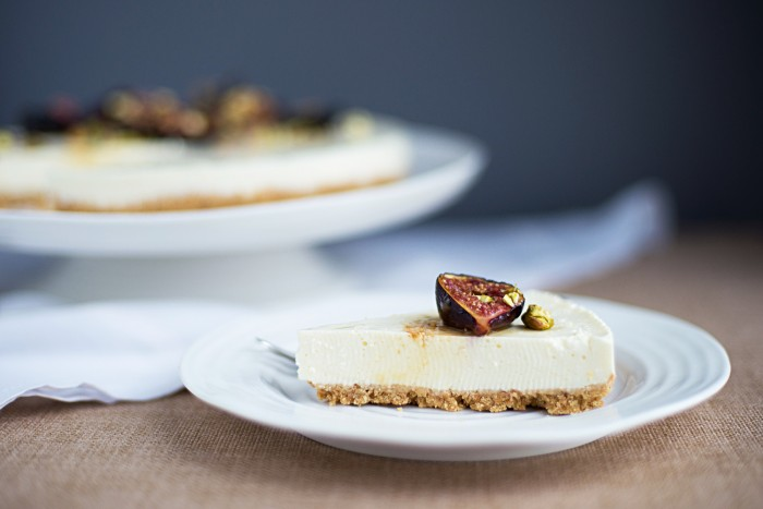 Icelandic Skyr Cake with Manuka Honey roasted Figs