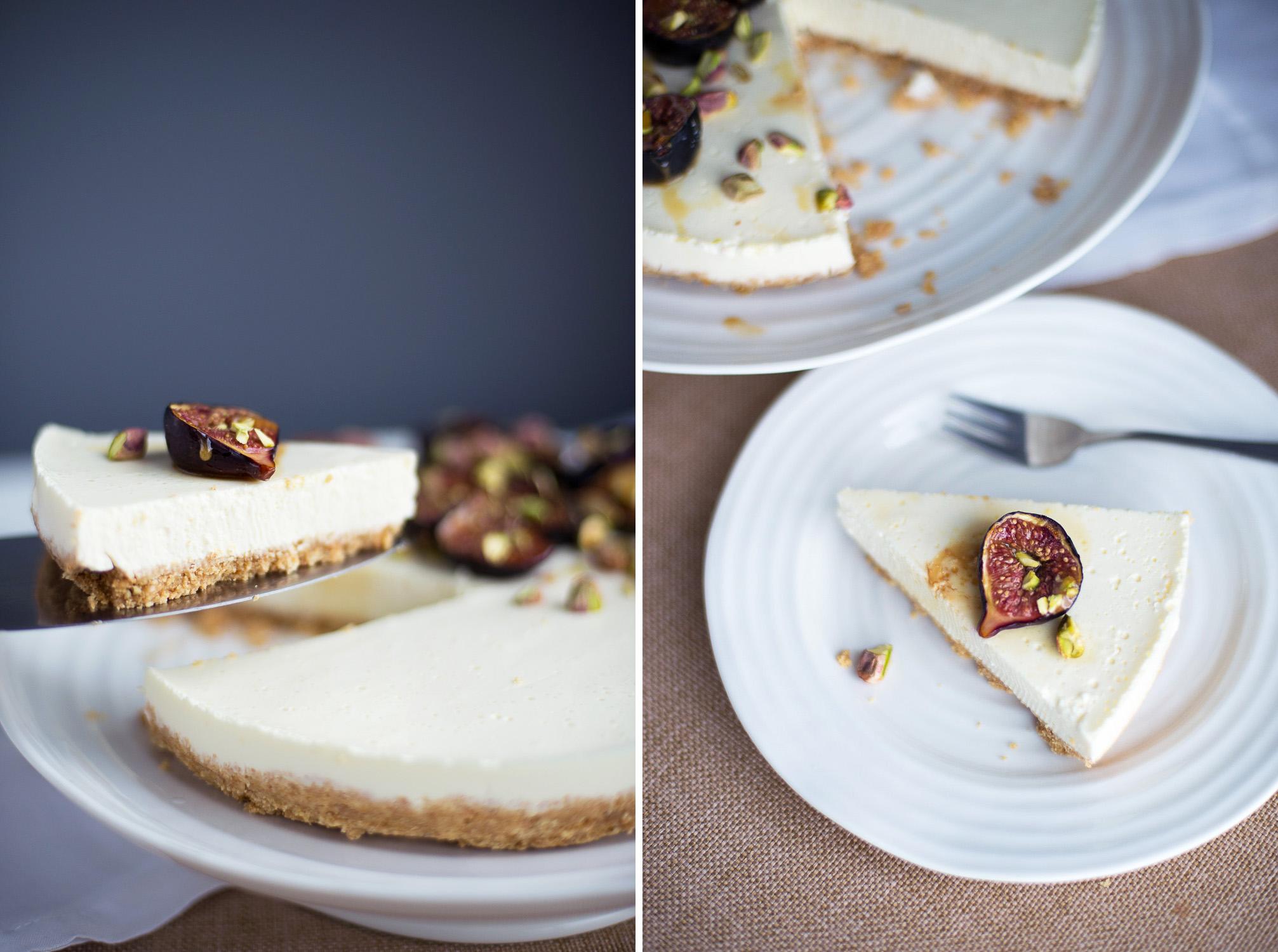 Icelandic Skyr Cake with Manuka Honey roasted Figs