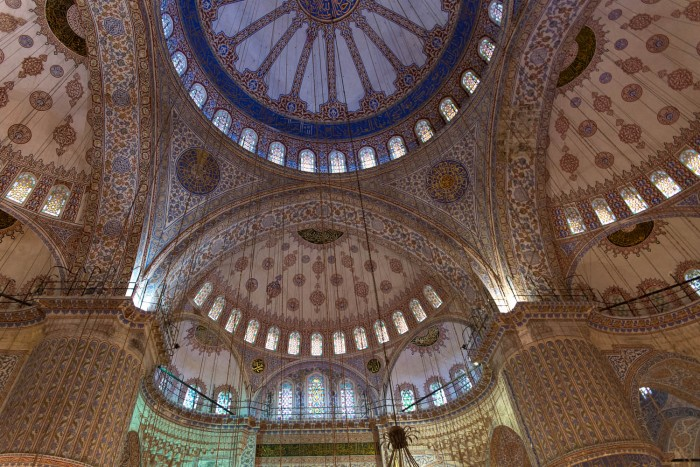 Sultan Ahmed Mosque, known as the Blue Mosque, in Istanbul, Turkey