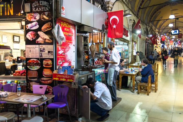 A shop inside the Grand Bazaar in Istanbul