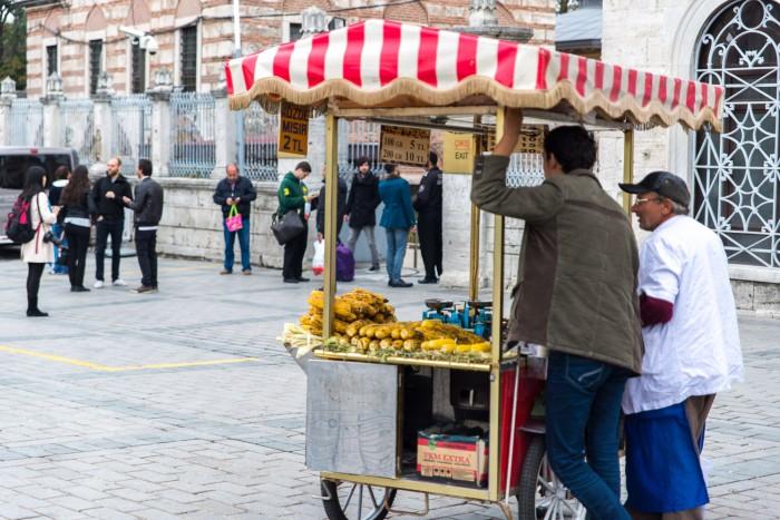 Street seller in Sultanahmet, Istanbul Turkey