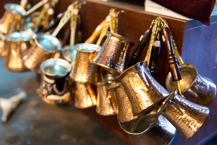 Ibrik bronze pots for Turkish coffee on sale at the grand bazaar | How To Spend a Perfect Day in Istanbul | Mondomulia