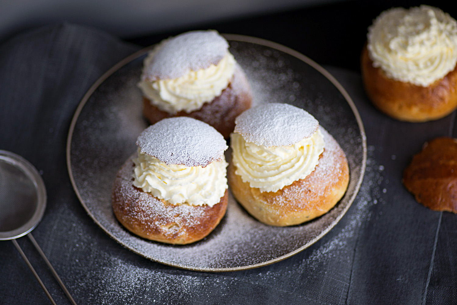 Semlor, Swedish Lent buns with whipped cream