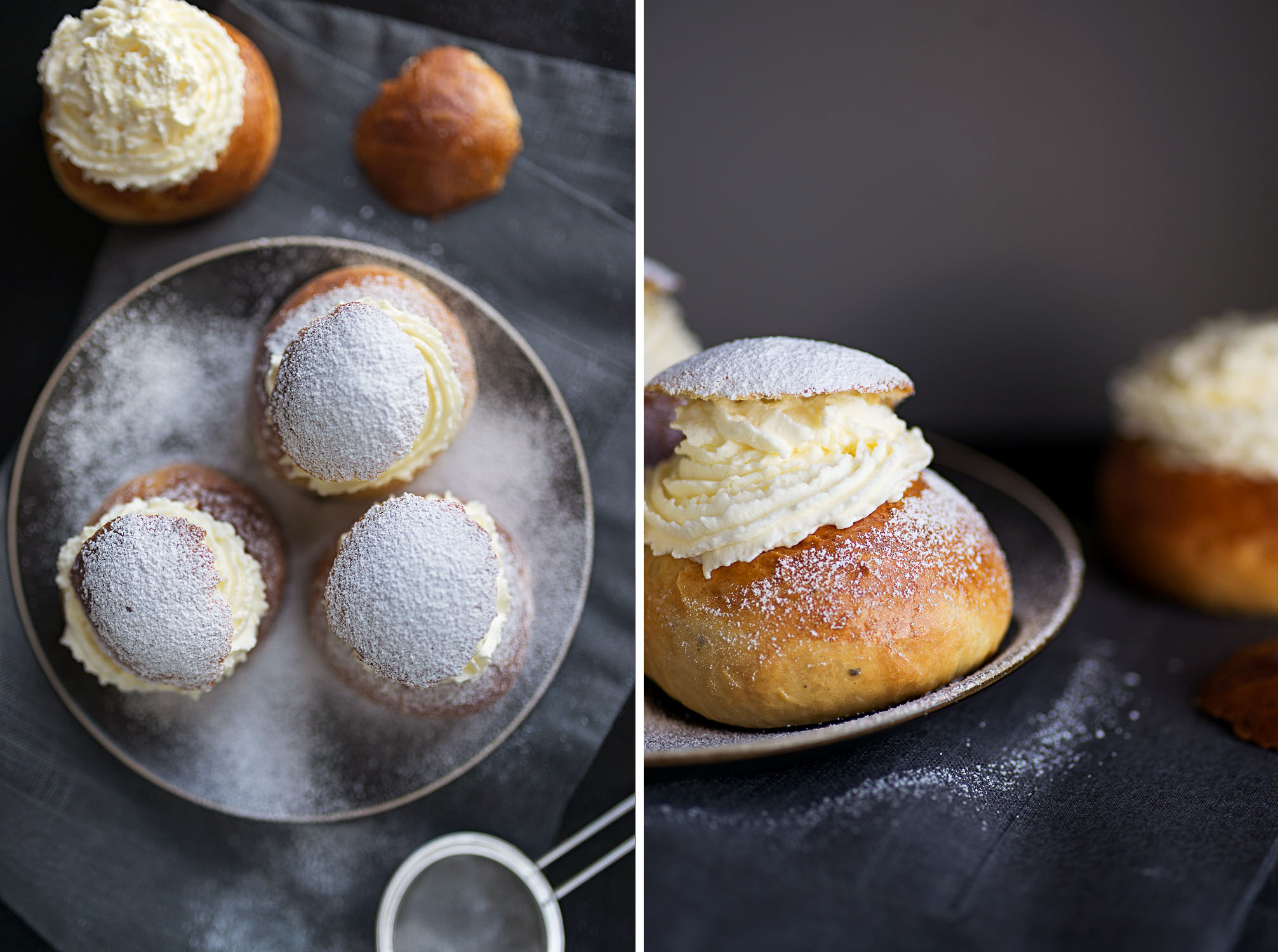 Semlor - Swedish Lent Buns {photography by Mondomulia - recipe by Rachel Khoo}