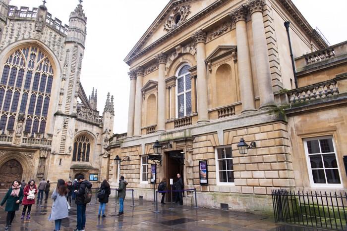 The Roman Baths in Bath England