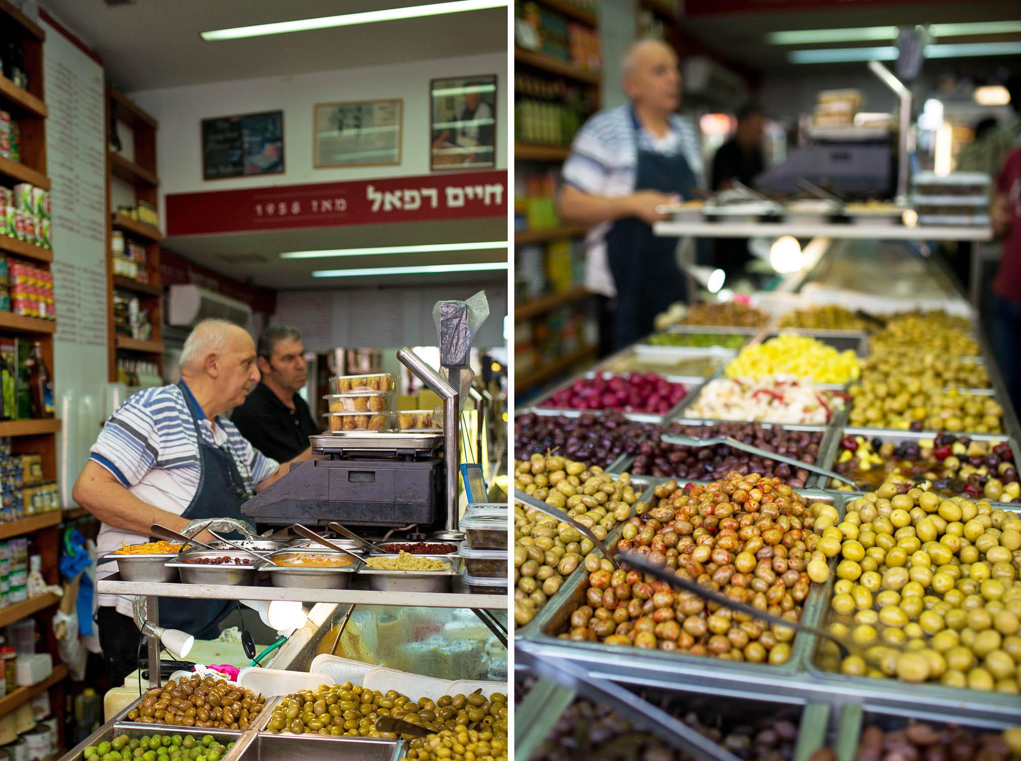 Maadaniat Haim Rafael Delicatessen in Levinsky Market. Tel Aviv, Israel.