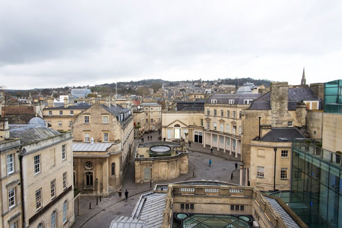 The town of Bath in England, UK