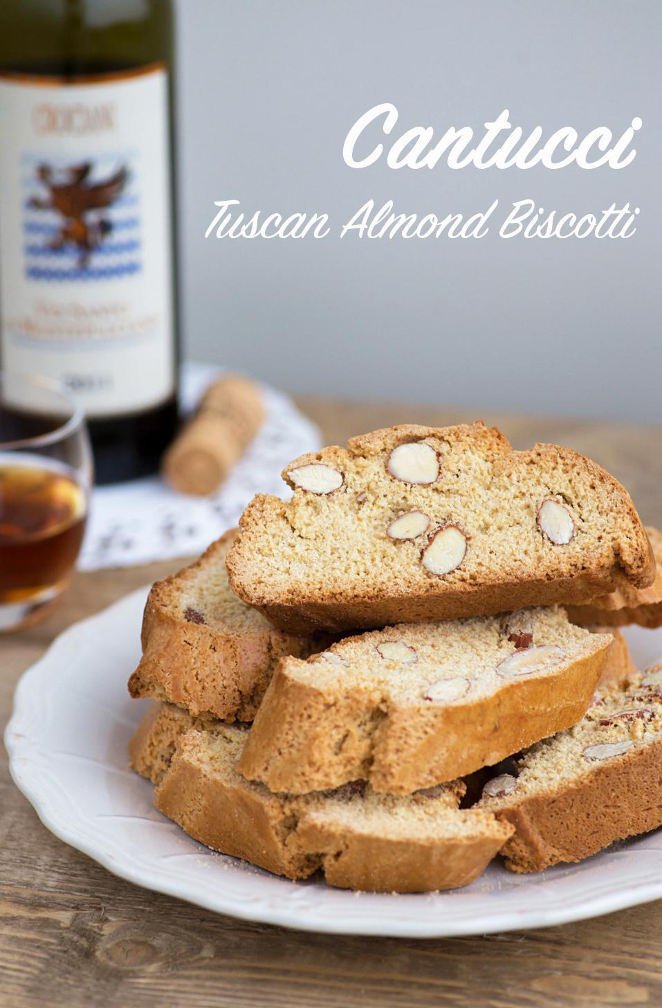 A traditional Tuscan recipe: Cantucci biscotti.