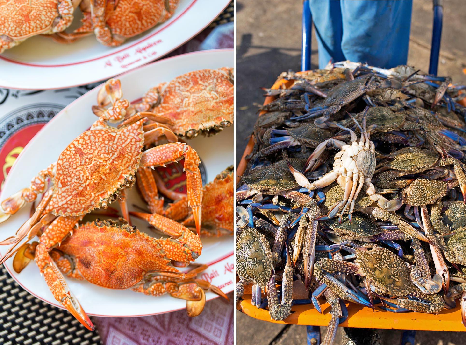 Crabs at Fish Market - Frying Pan Adventures Food Tour - Dubai