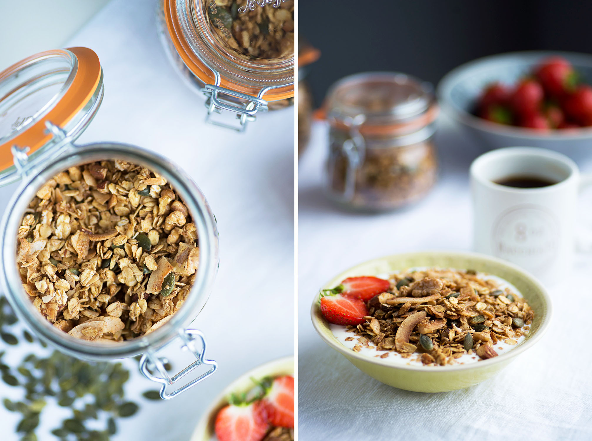 Homemade Nuts, Seeds and Coconut Granola
