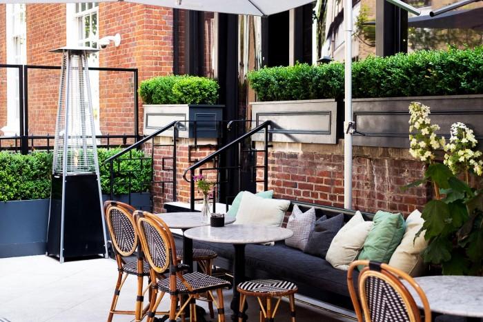 Brunch at Dalloway Terrace - Bloomsbury Hotel, London