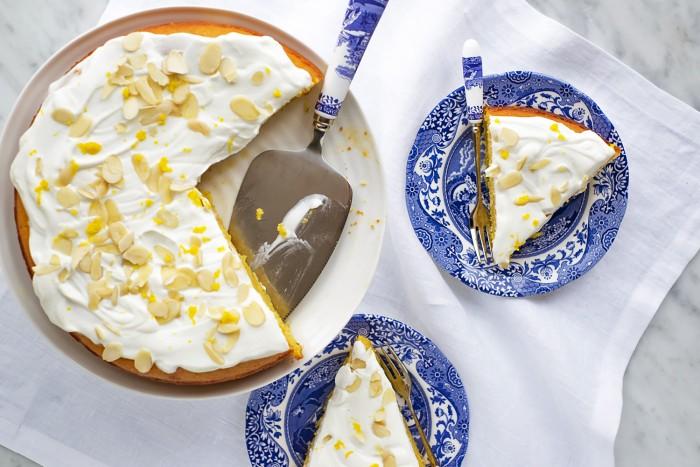 Honey and Orange Polenta Cake-10