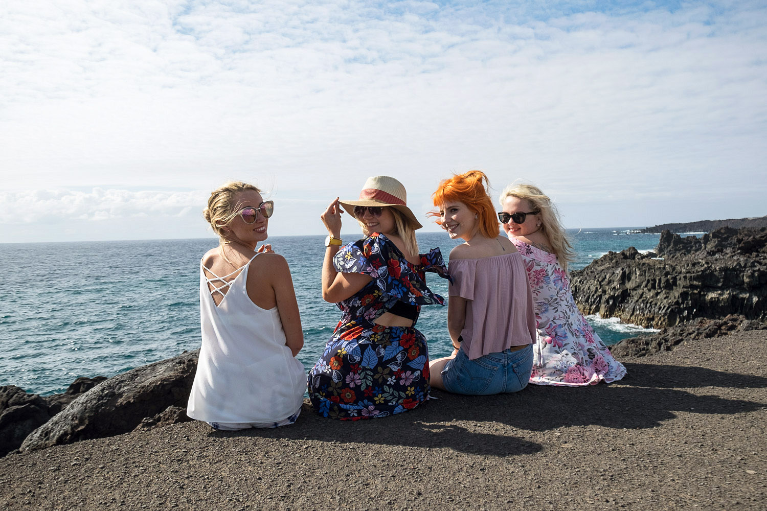 Girls on holiday in Lanzarote, Canary Islands