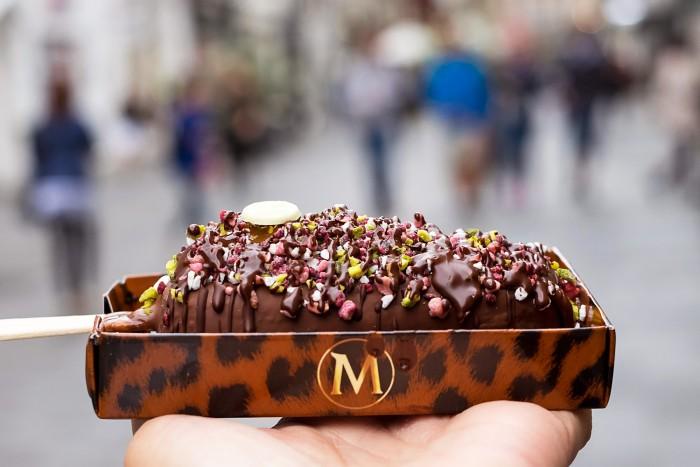 Double dipped Magnum ice cream at Magnum Pleasure Store, London