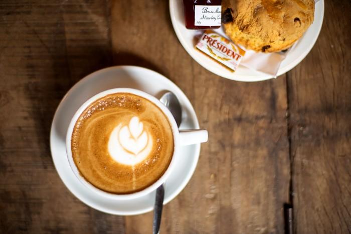 Cappuccino and scones at Caffè Nero Camden Street, Dublin