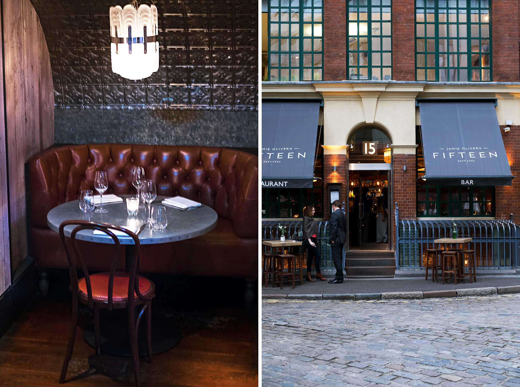 Dinner at Jamie Oliver's Fifteen in London