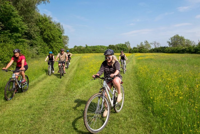 Cycling activities in the Cotswolds, England