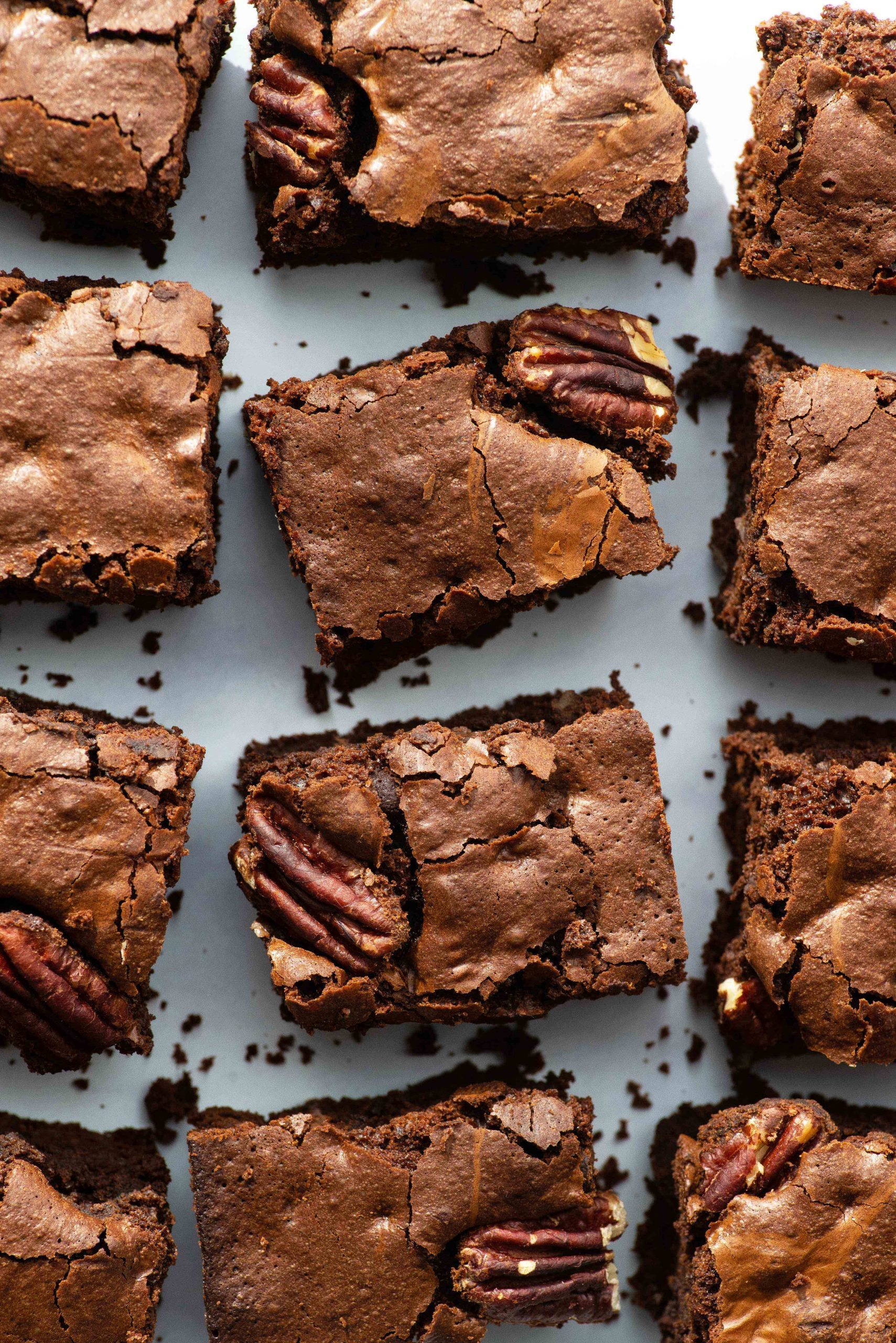 Dairy free chocolate brownies with pecans and white chocolate