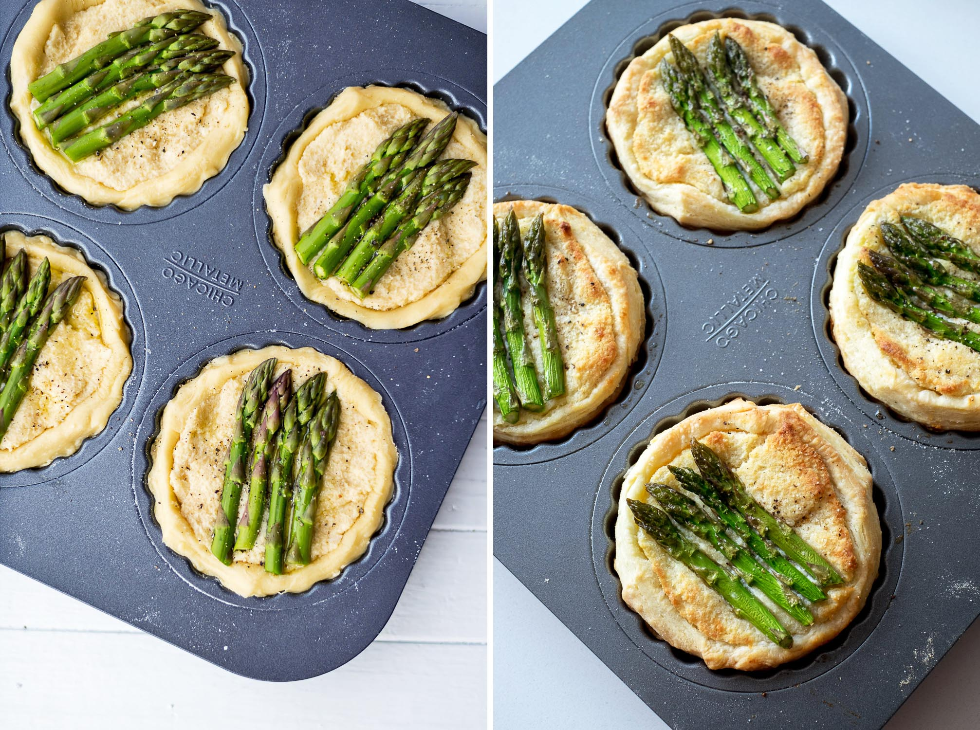 Asparagus, Almond and Grana Padano Tart
