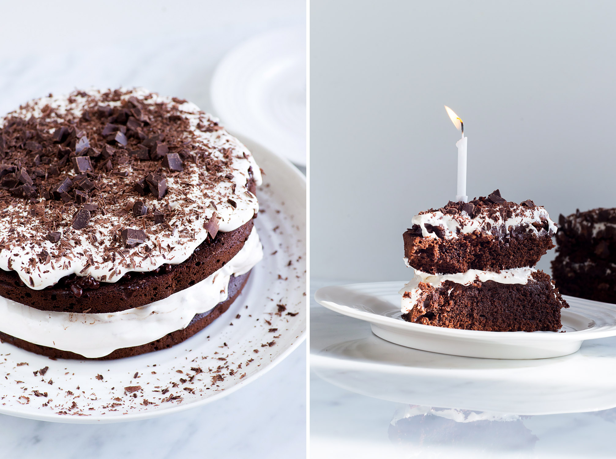 Chocolate Celebration Cake with Puffed Rice and Nougat Frosting - Recipe from Jamie Oliver Comfort Food | Mondomulia.com