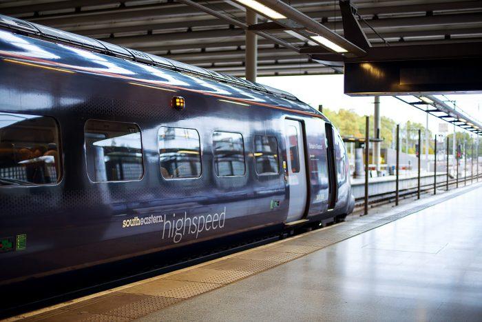Southeastern Railway train to Canterbury Kent
