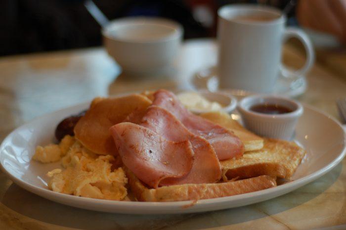 Chelsea Bun breakfast, french toast
