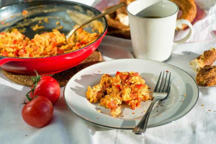 Menemen: Turkish Scrambled Eggs