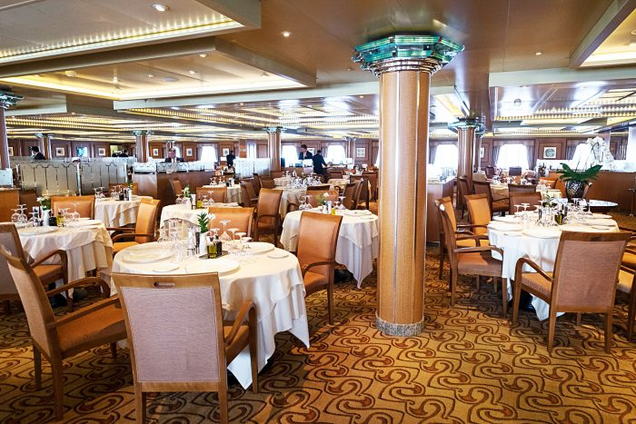 The Restaurant on Silver Spirit Luxury Cruise with Silversea
