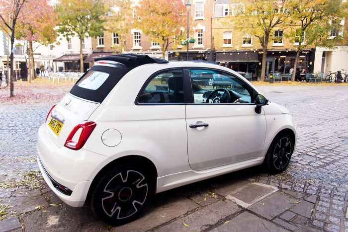 Fiat 500 S Convertible TwinAir. Battersea Square, London