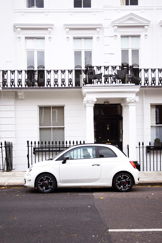 Fiat 500 car in Chelsea, London
