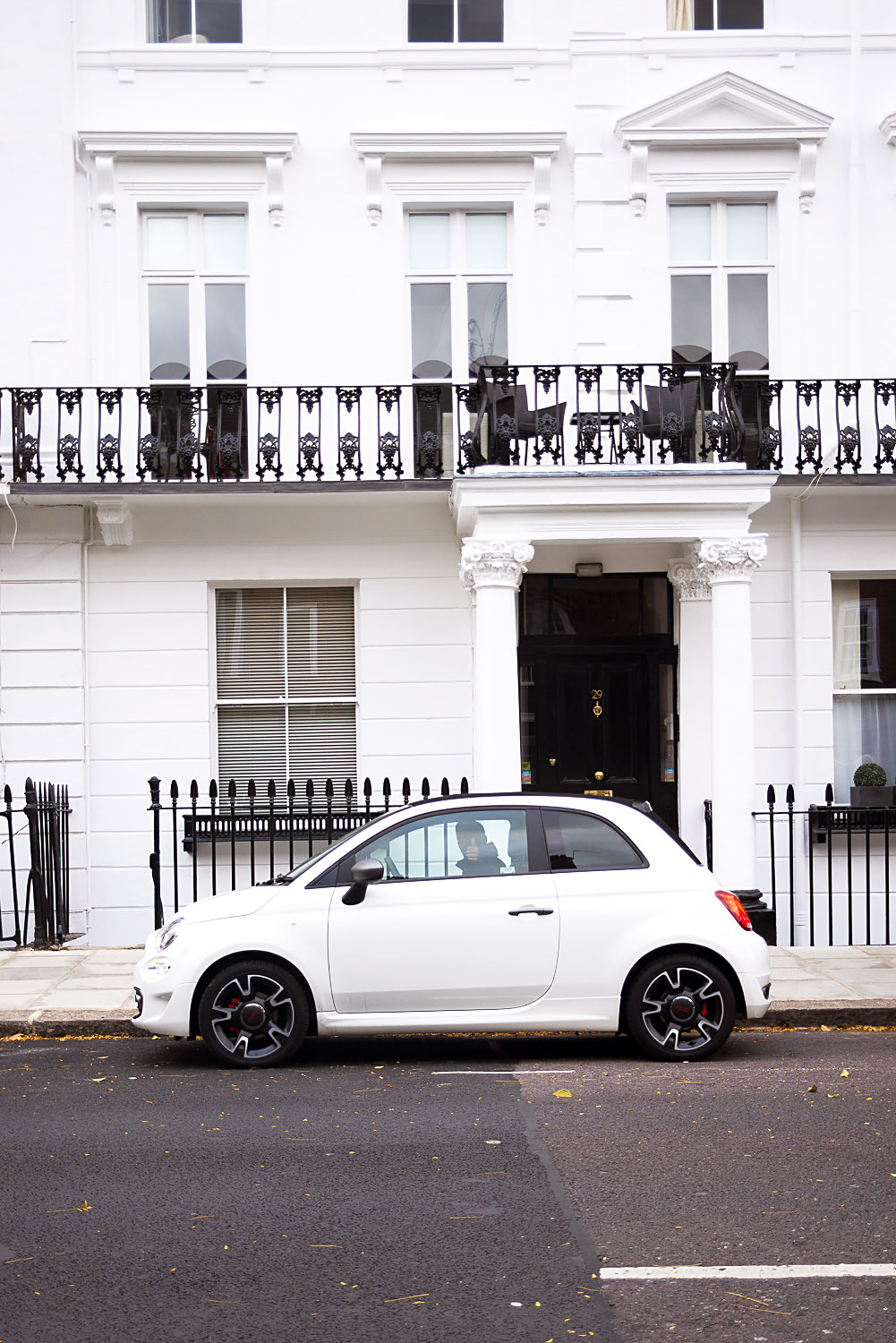 Fiat 500 S Convertible TwinAir city car in Chelsea, London