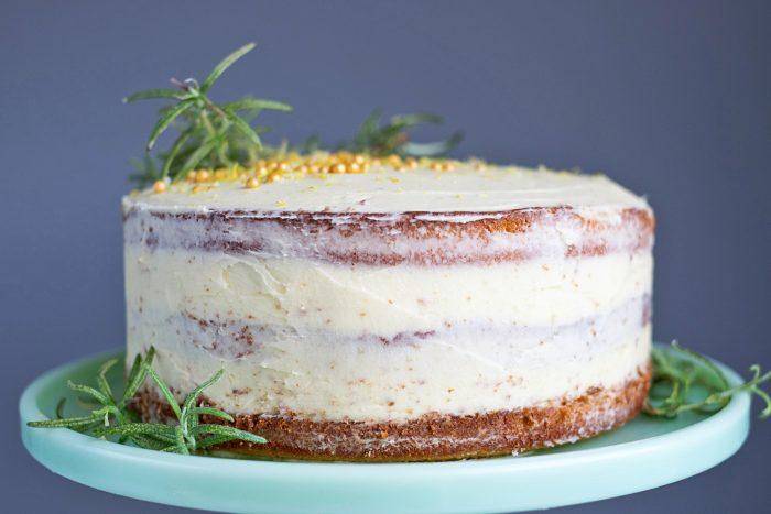 Jamie Oliver Nan S Lemon Drizzle Cake Recipe: Lemon Cake With Rosemary Buttercream Frosting