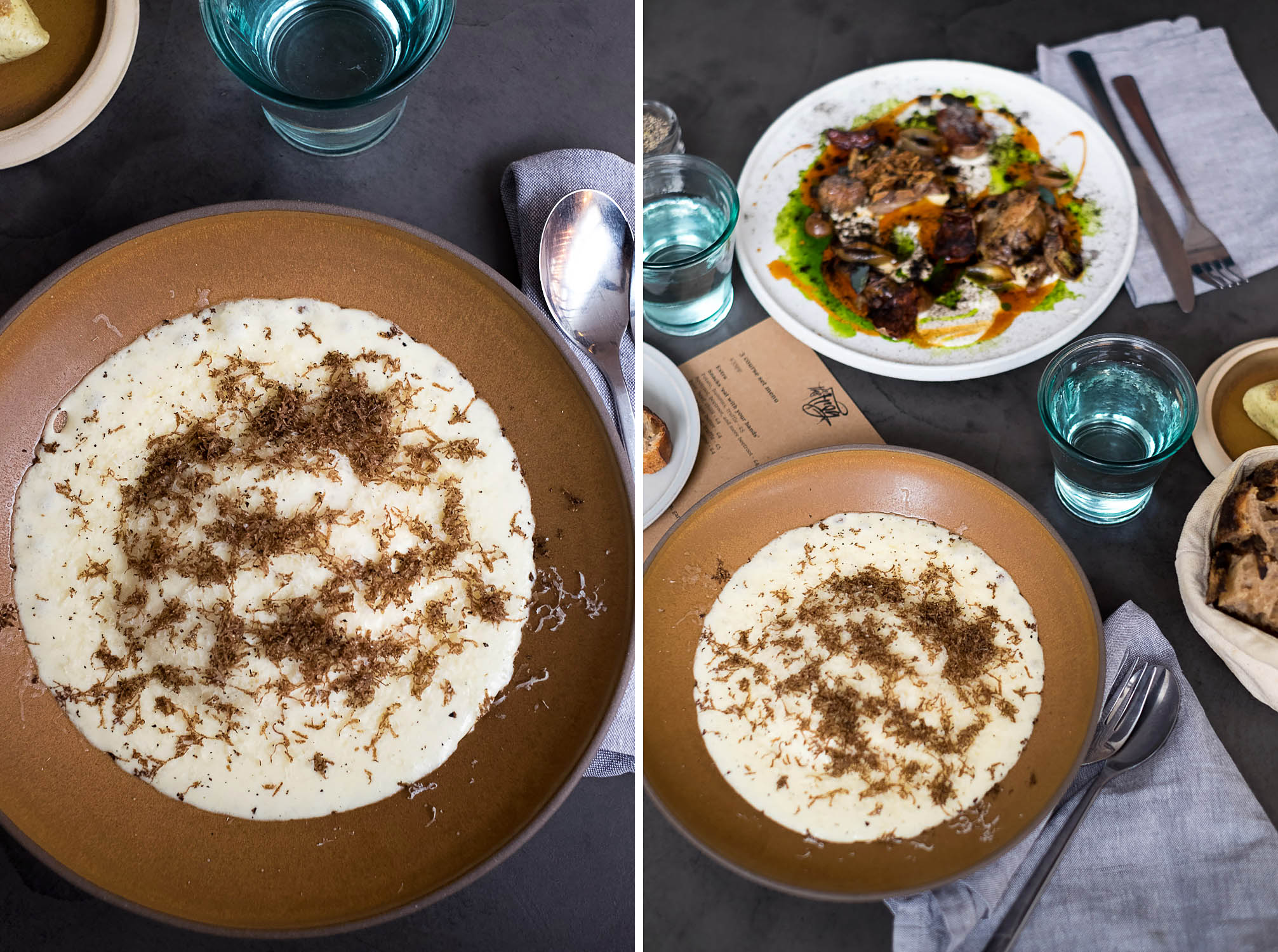 Mac and cheese / Fine Dining Set Menu Lunch at The Frog E1 in Spitalfields, London