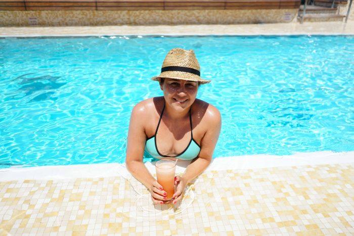 Pool deck area, swimming pool on Silver Spirit Luxury Cruise with Silversea