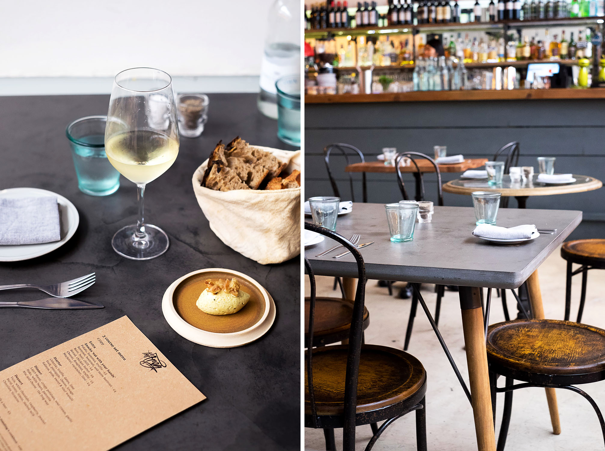 Fine Dining Set Menu Lunch at The Frog E1 in Spitalfields, London