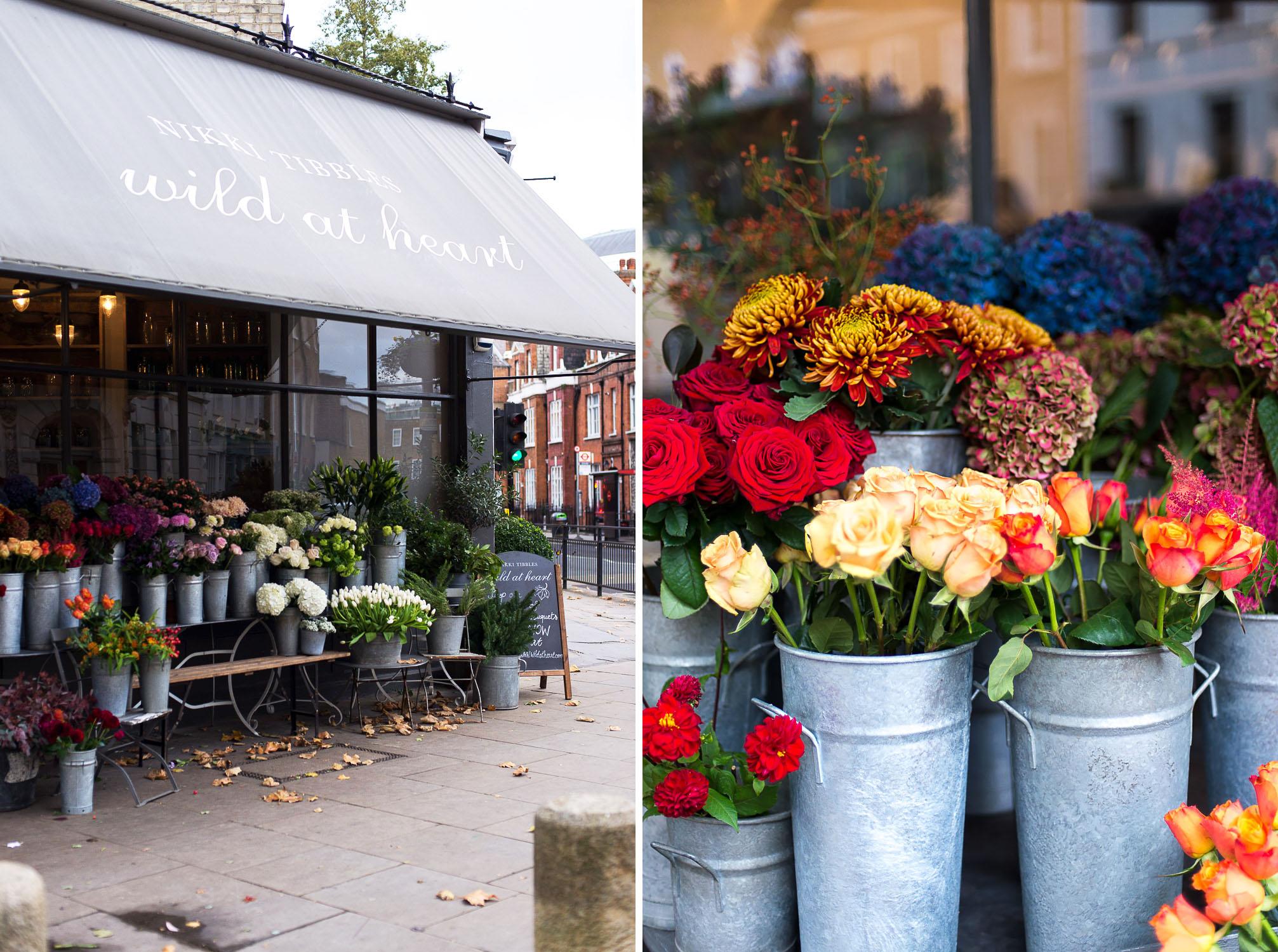 Wild at Heart florist, Pimlico