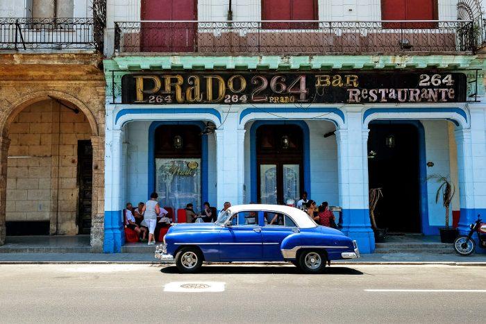 Old vintage car in La Havana Cuba