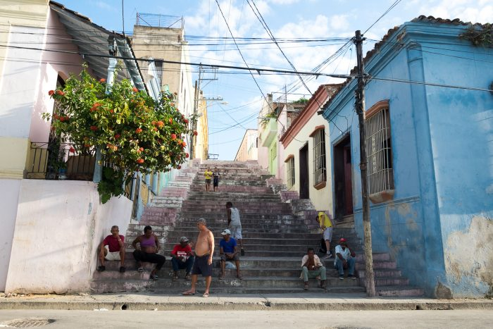 Streets of Santiago in Cuba