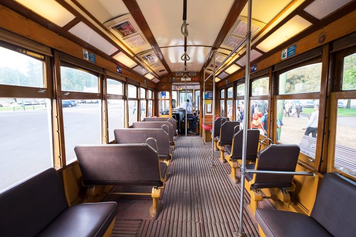 Tram 28 in Campo Orique, Lisbon