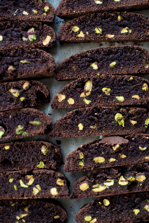 Chocolate and Pistachio Biscotti - Recipe by Eric Lanlard [photography by Mondomulia]