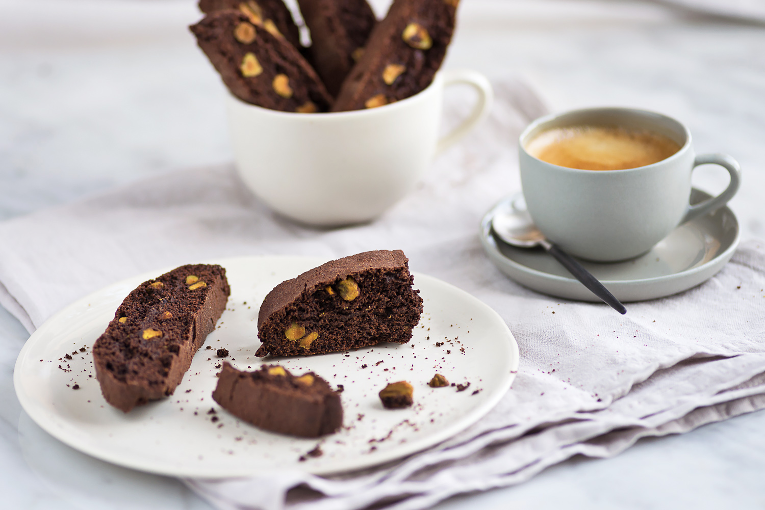 Eric Lanlard's Chocolate and Pistachio Biscotti