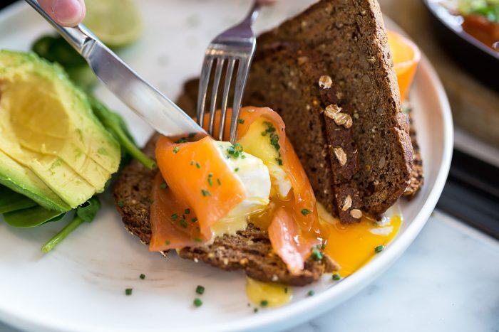 Eggs Royale - Timmy Green restaurant at Nova Food, Victoria