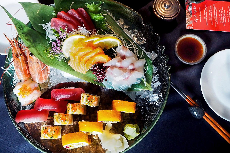 Sushi at Aqua Kyoto in London