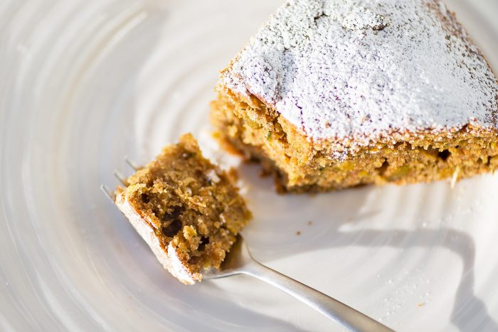 Pistachio, Orange and Courgette Cake from Jo Pratt's cookbook, In The Mood for Healthy Food