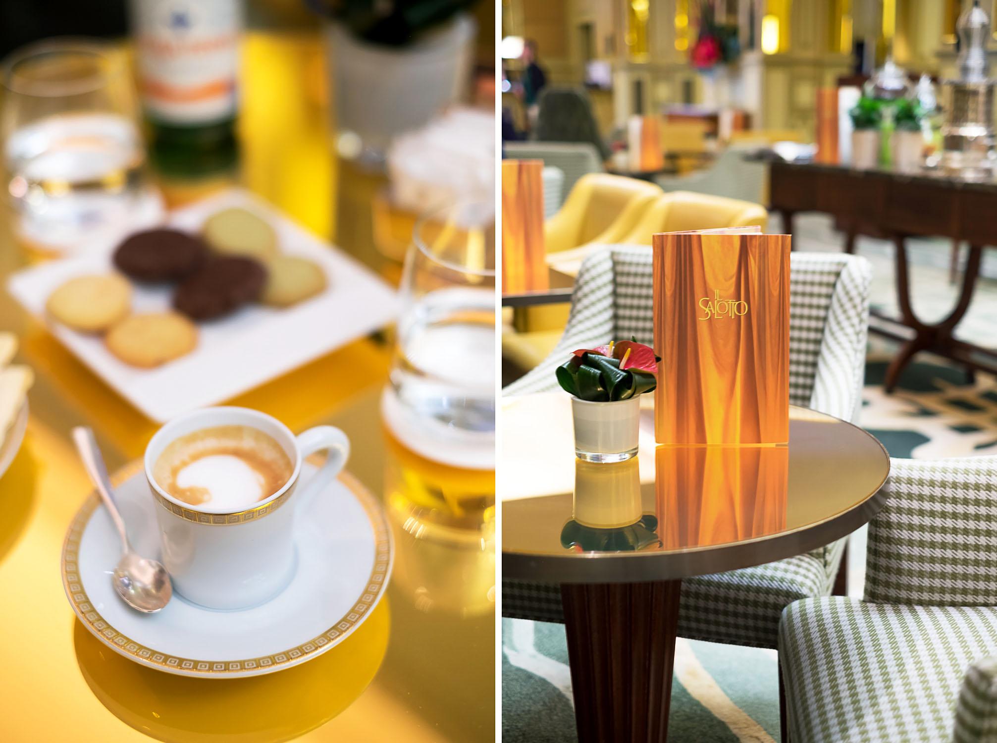 Il Salotto - The lobby lounge at Five Star Hotel Principe di Savoia, Dorchester Collection, Milan