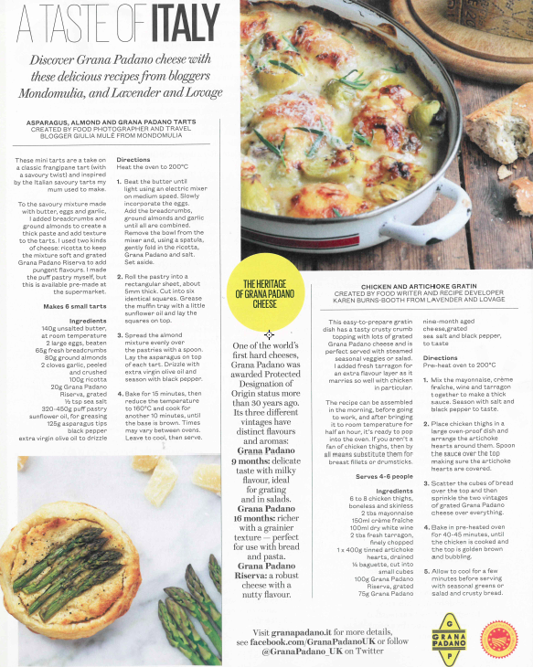 ES Magazine Advertorial: A Taste of Italy with Grana Padano. Recipe and photography by Mondomulia