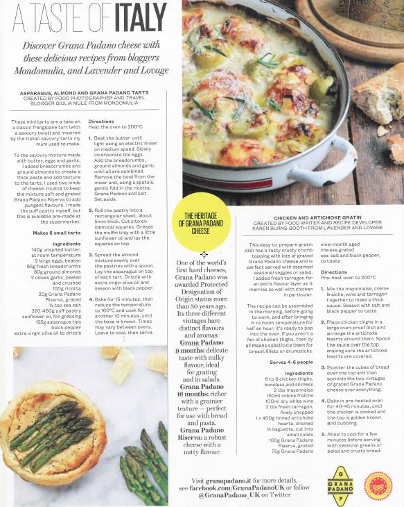 ES Magazine Advertorial: A Taste of Italy with Grana Padano. Recipe and photography by Mondomulia